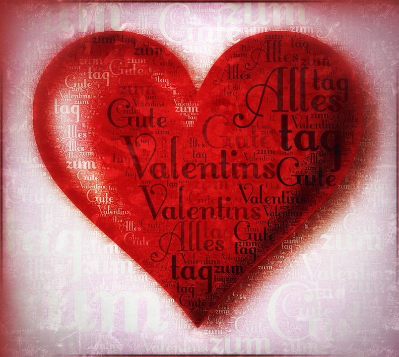 Valentin, Valentinstag, Herzförmig, Herz, Danke