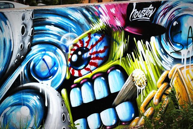 Free photo graffiti street art wall mural free image for Wall spray painting designs