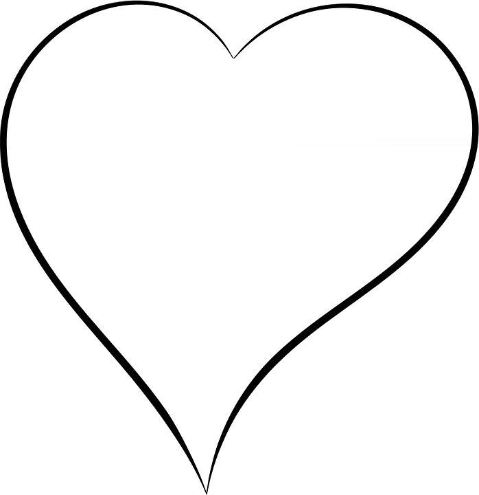 Line Art Of Heart : Heart valentine love · free vector graphic on pixabay