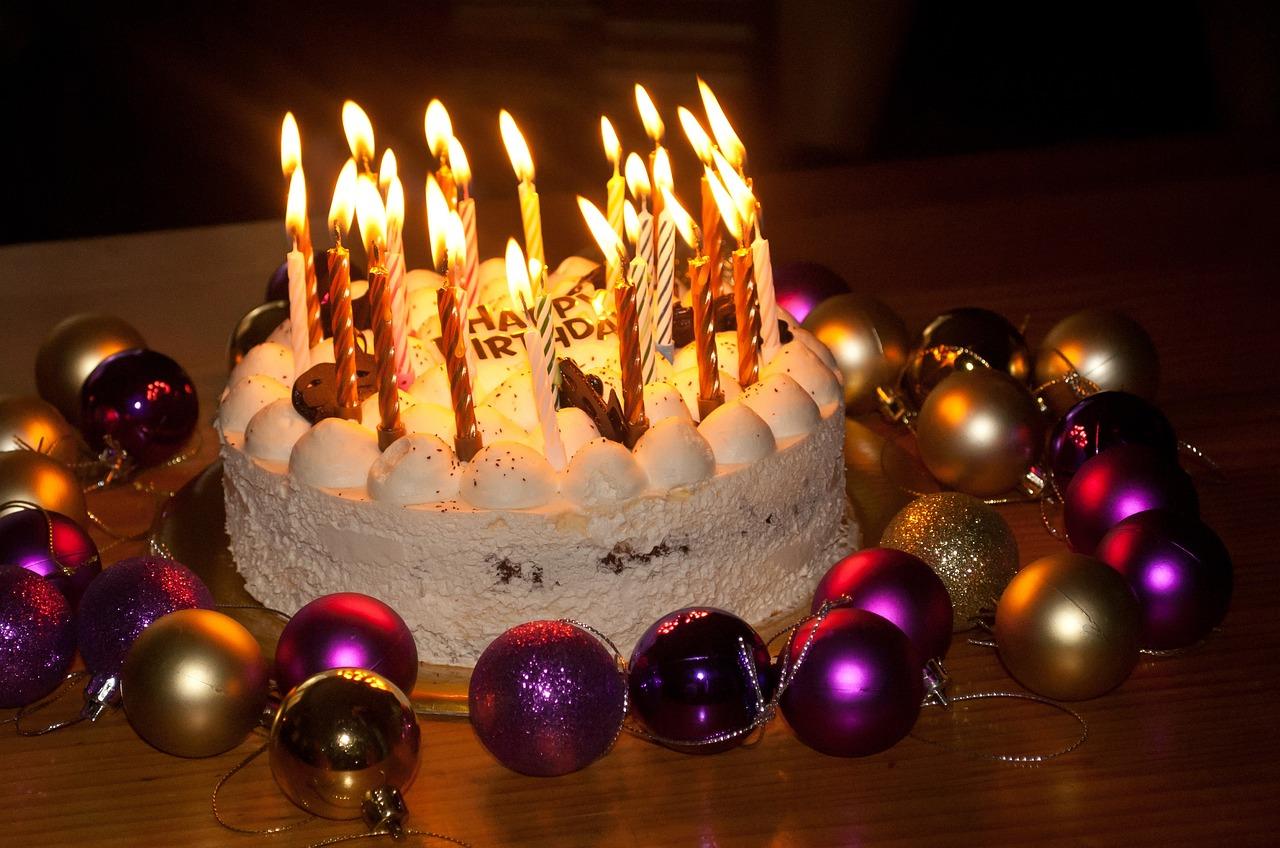 будут картинки с днем рождения торт со свечами и шарами для потолка