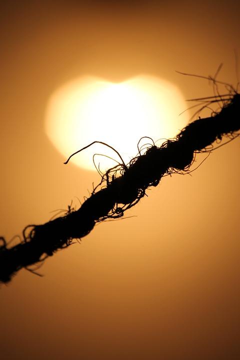 Sunlight, Light, Rope, Silhouette, Cord, String