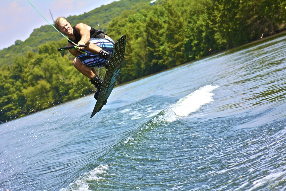 Wakeboard, Water Sports, Wake Boarding, Lake, Boat