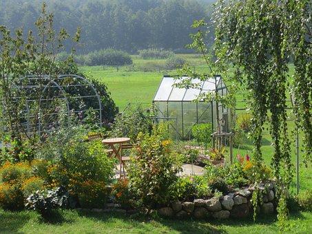 Garden, Greenhouse, Allotment, Allotment