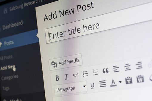WordPress post editor showing the dsaaboard where it says Add New Post and Enter title here for Promote your blog post by emailing them