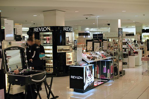 百貨店, 化粧品カウンター, 化粧品, 販売, ショップ, 香水, カウンタ