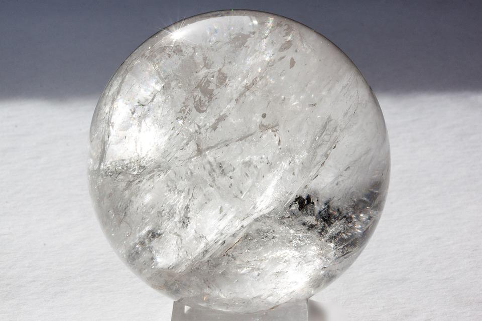銃弾, クリスタル ボール, 純粋な石英, ロック クリスタル, ミネラル, 三方晶, プリズム面