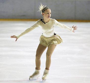 Figure Skater, Ice Skater, Ice, Elegant