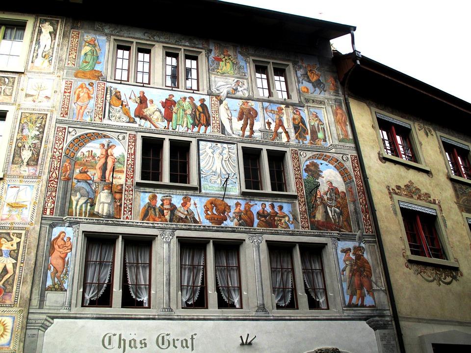 Historyczne Centrum Fresk Wiersz Darmowe Zdjęcie Na Pixabay