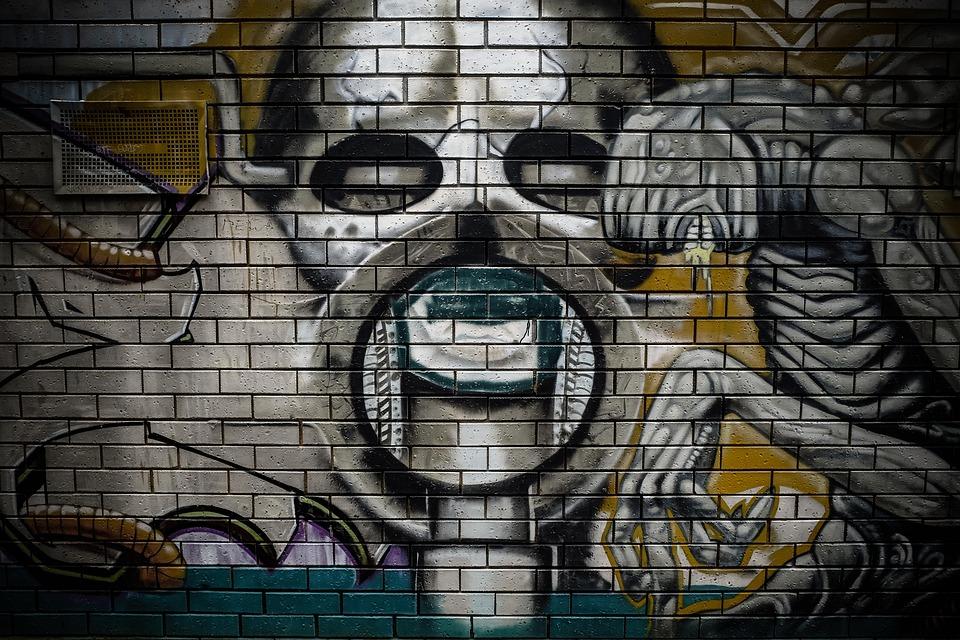 Graffiti Wall Mural Street Art Urbex Colors
