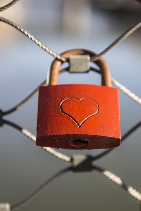 Hjerte, Slot, Kære, Hængelås, Hegn, Elsker Slot