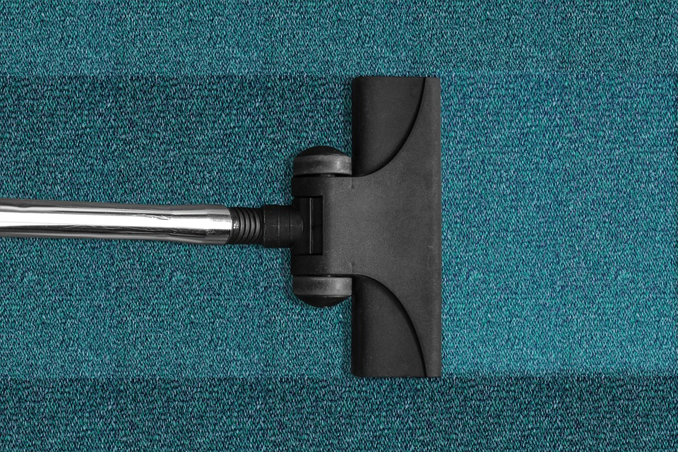 vacuum in a carpet