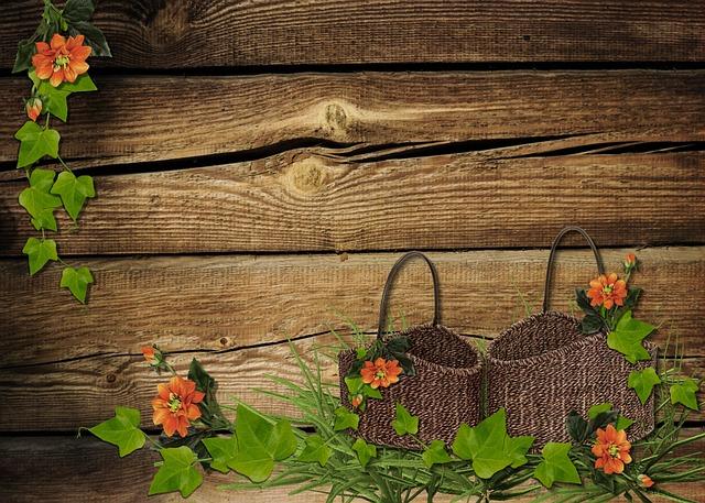 Flowers Rustic Baskets 183 Free Photo On Pixabay