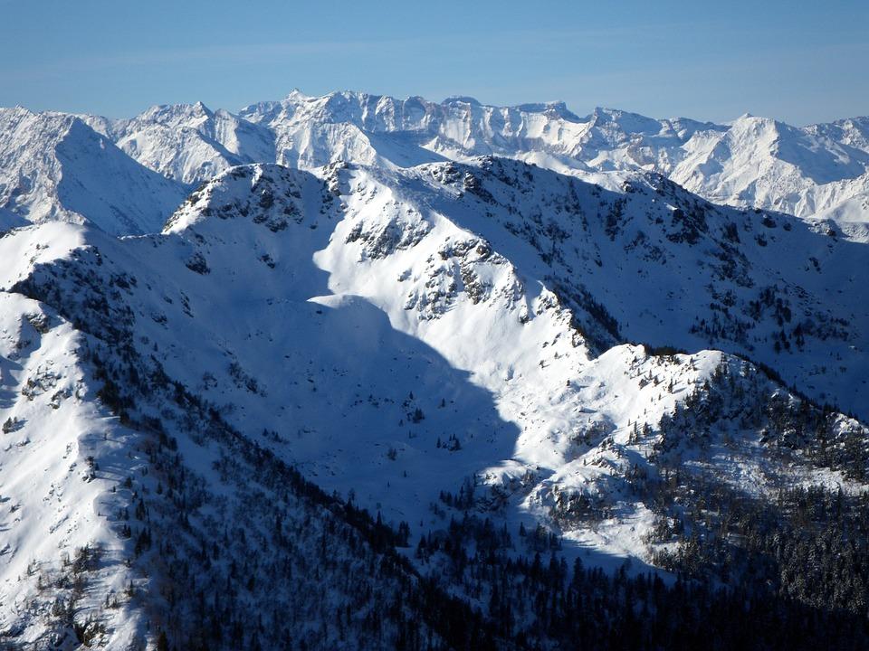Montagne neige hiver photo gratuite sur pixabay - Photos de neige gratuites ...