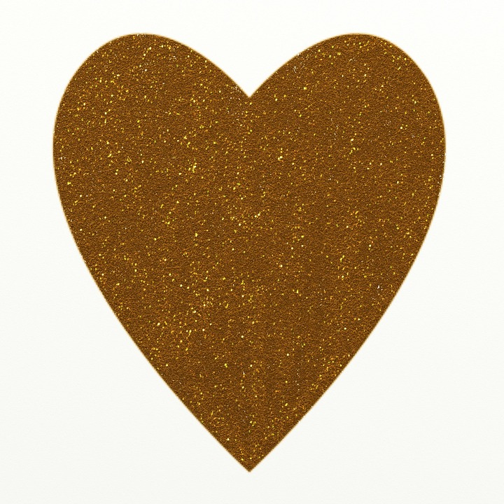 Heart Golden Shapes Free Image On Pixabay