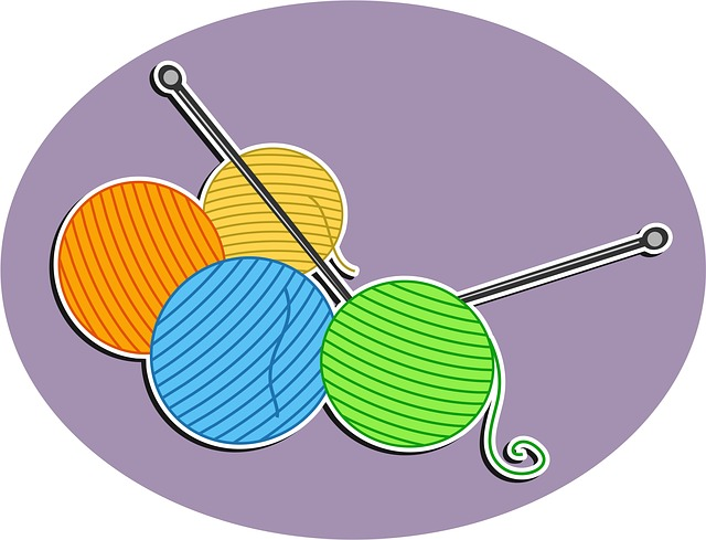Knitting Needles Clip Art : Free illustration wool knitting needles crafts