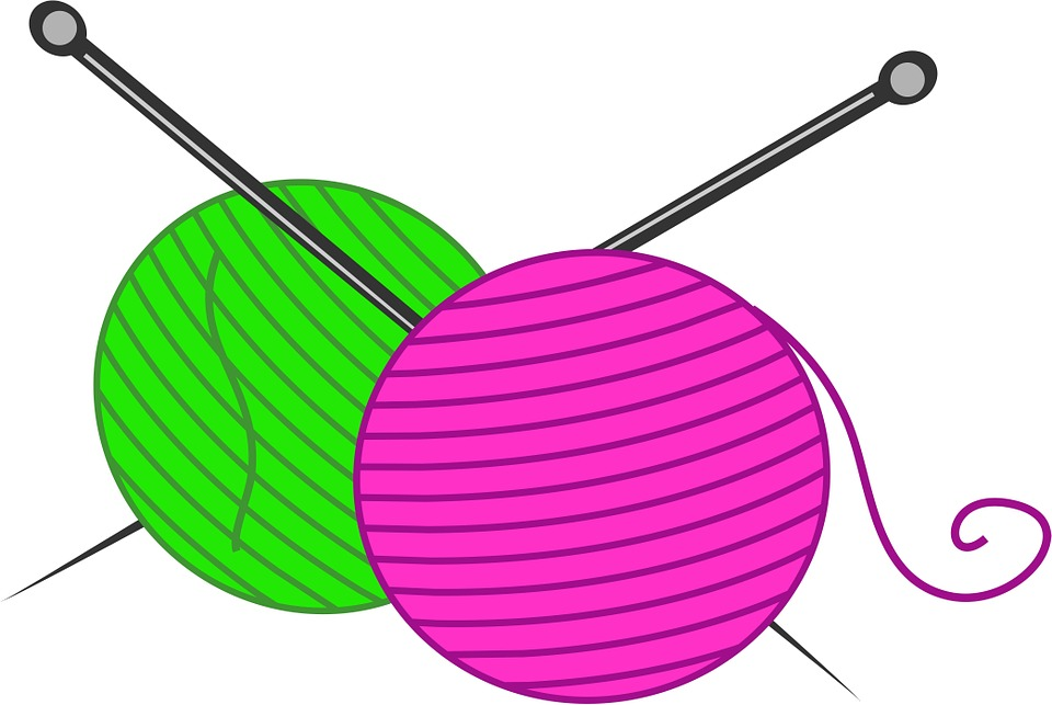 Knitting Needles Clipart : Free illustration wool knitting needles crafts