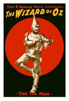 Wizard Of Oz Poster Tin Man Characters Vin