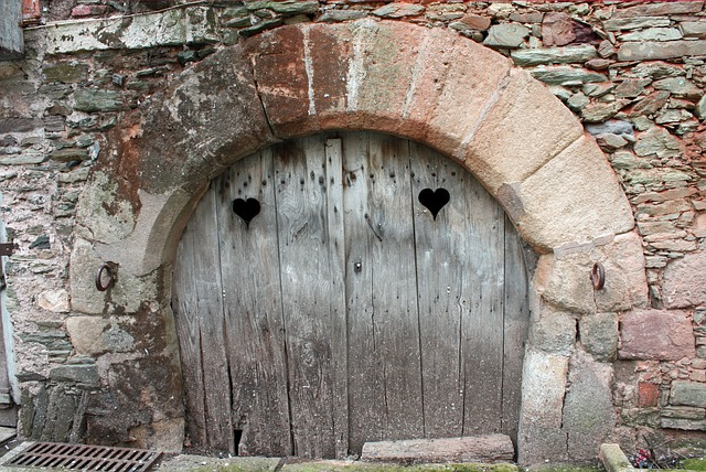 Free Photo Old Door Heart Shapes Free Image On Pixabay