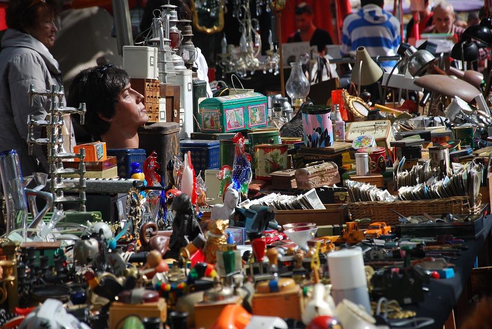Flohmarkt, Stöbern, Stand, Markt, Antiquitäten