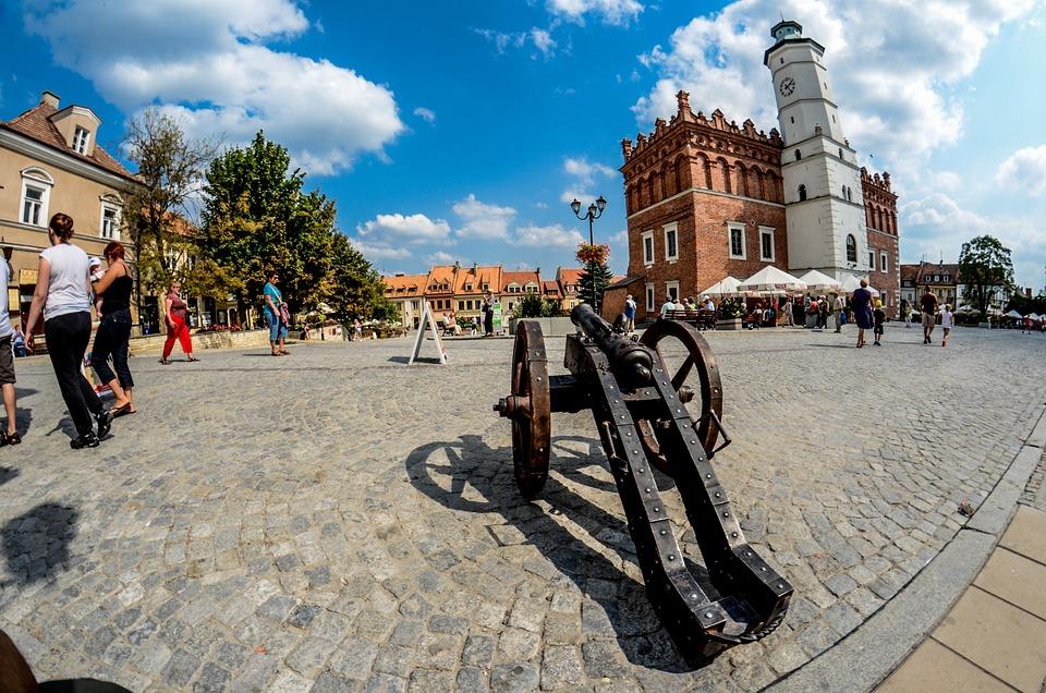 Armata, Działo, Sandomierz, Polska, Stare Miasto, Rynek