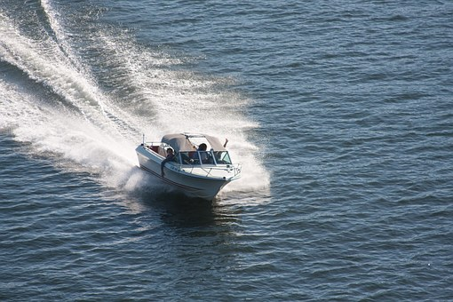 Speedboat, Boat, Sea, Ocean, Water