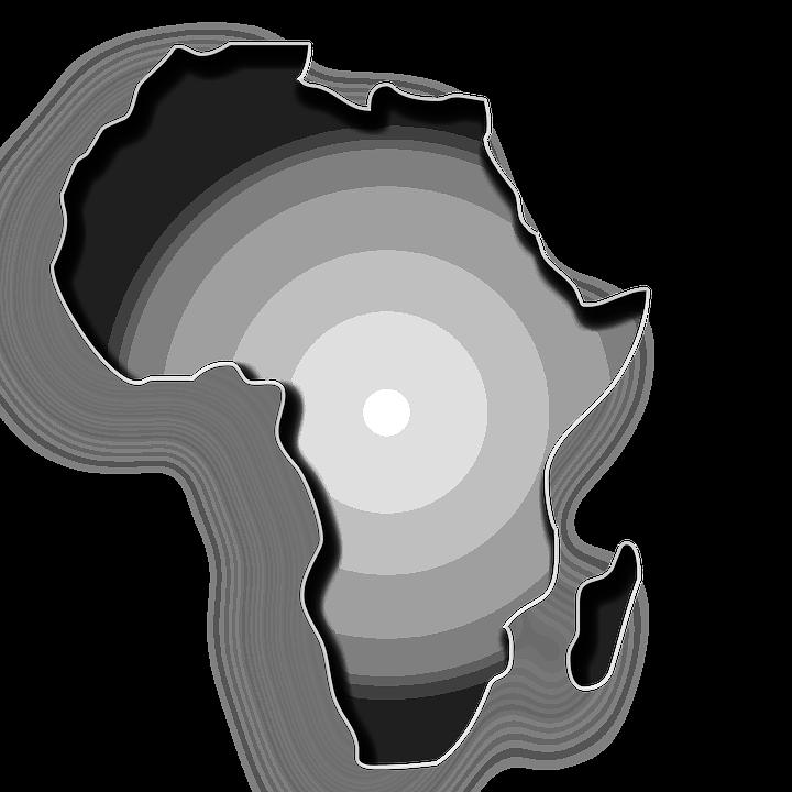 Tanah Negara Benua Gambar Gratis Pixabay Afrika Garis Besar Hitam