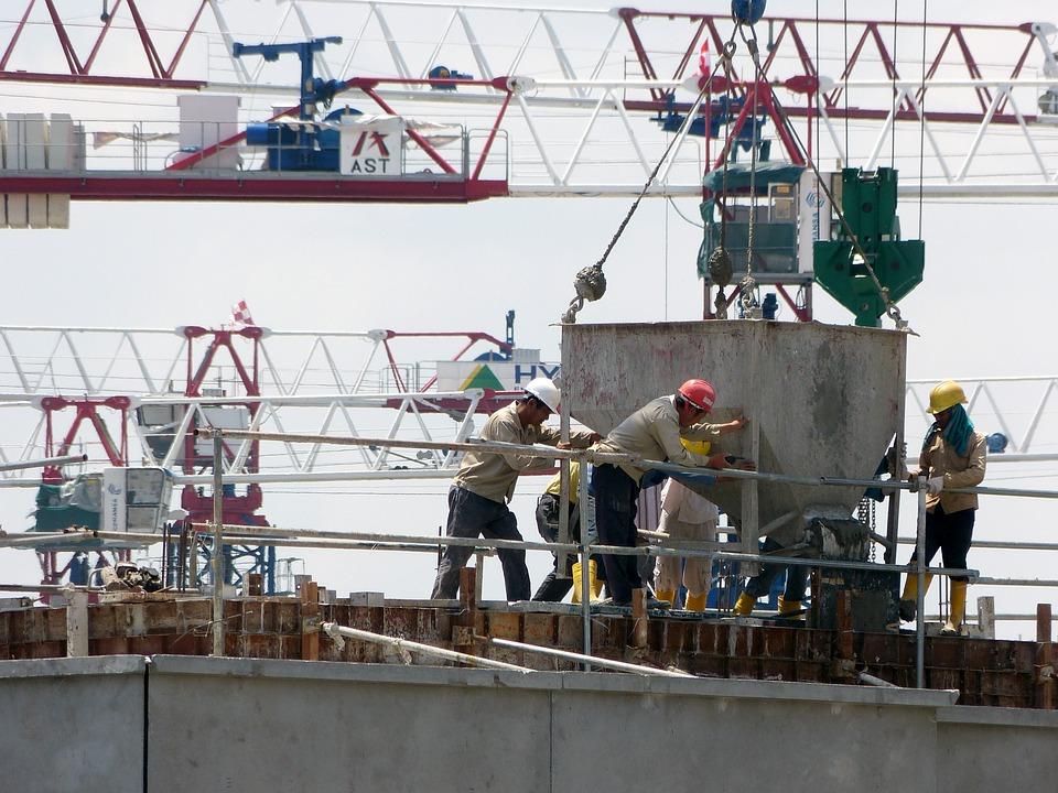 建設, クレーン, 建築工事, ヘルメット, アーキテクチャ, 建物, 重い装置, ビルド, 金属, 空