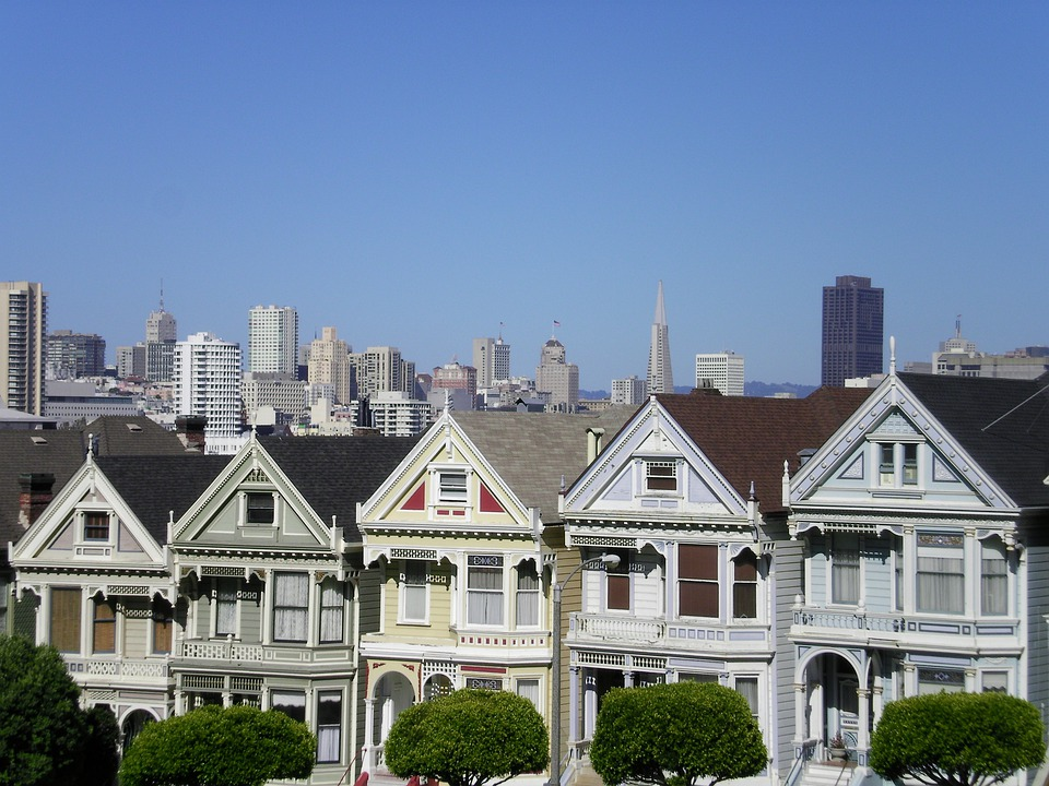 Free photo painted ladies houses free image on pixabay for Achat maison californie usa