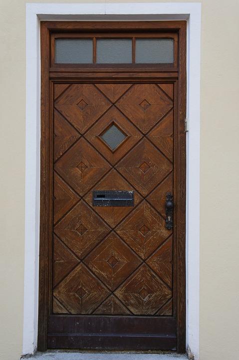 Door Wooden Door Front Door House Entrance Input
