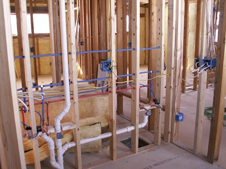 Construction, Studs, Plumbing, Wiring