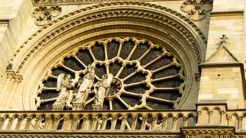 Rosette, Façade, Notre Dames, Paris