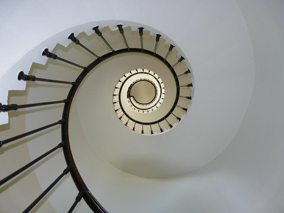 Staircase, Upwards, Rails, Railings, Stairway, Stairs
