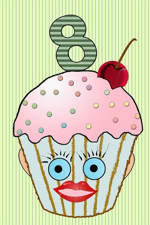 Cup Cake Muffin Geburtstag Kostenloses Bild Auf Pixabay
