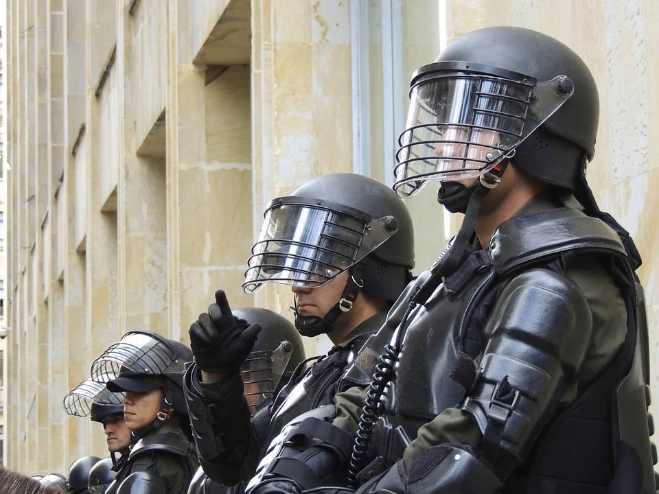 Polizia, Bogota, Sommossa, Swat, Forze Speciali