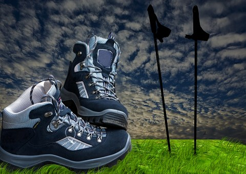 Hiking Shoes Sticks Hiking Trekking Nordic