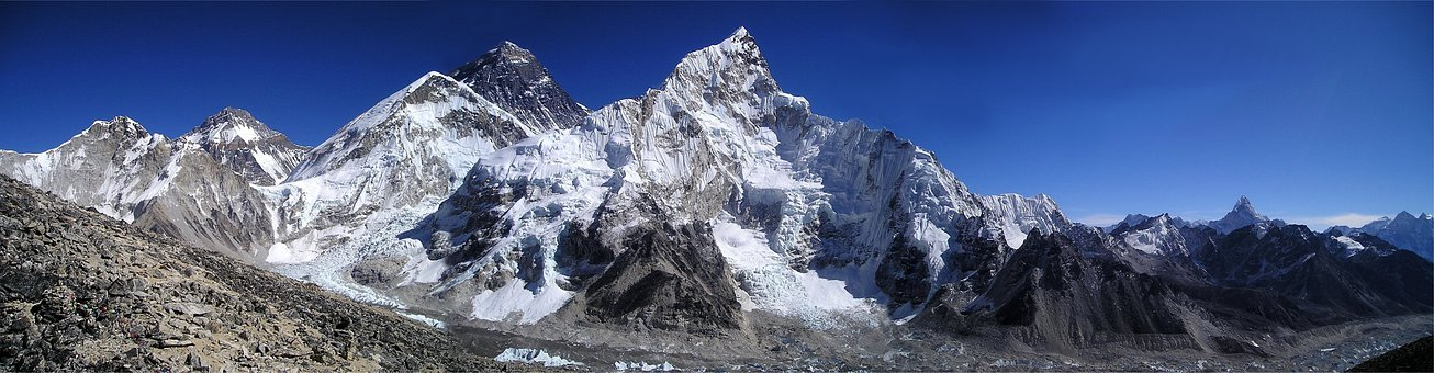 Mount Everest, Himalayas, Nuptse, Lhotse