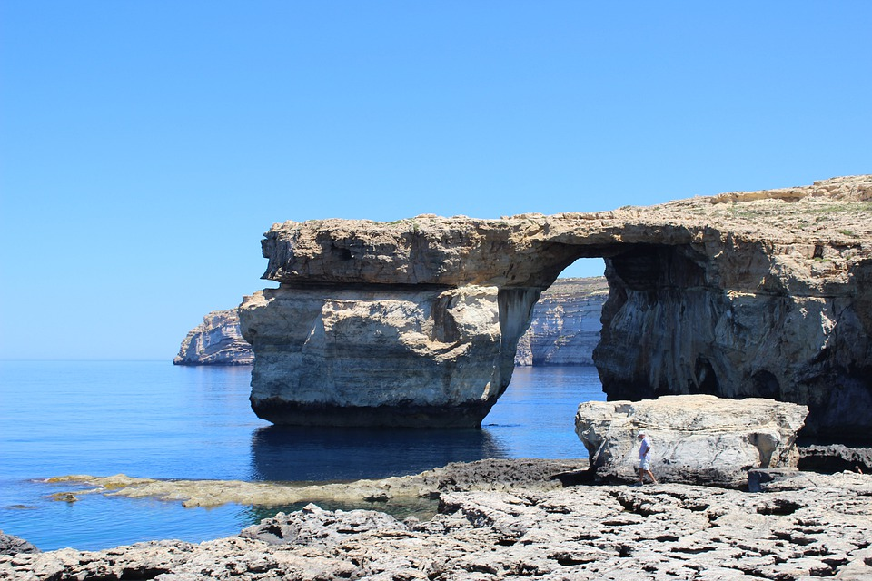 Azurblauen Fenster, Malta, Gozo, Ozean, Meer, Seestück