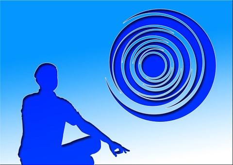 Meditation, Silhouettes, Man, Men