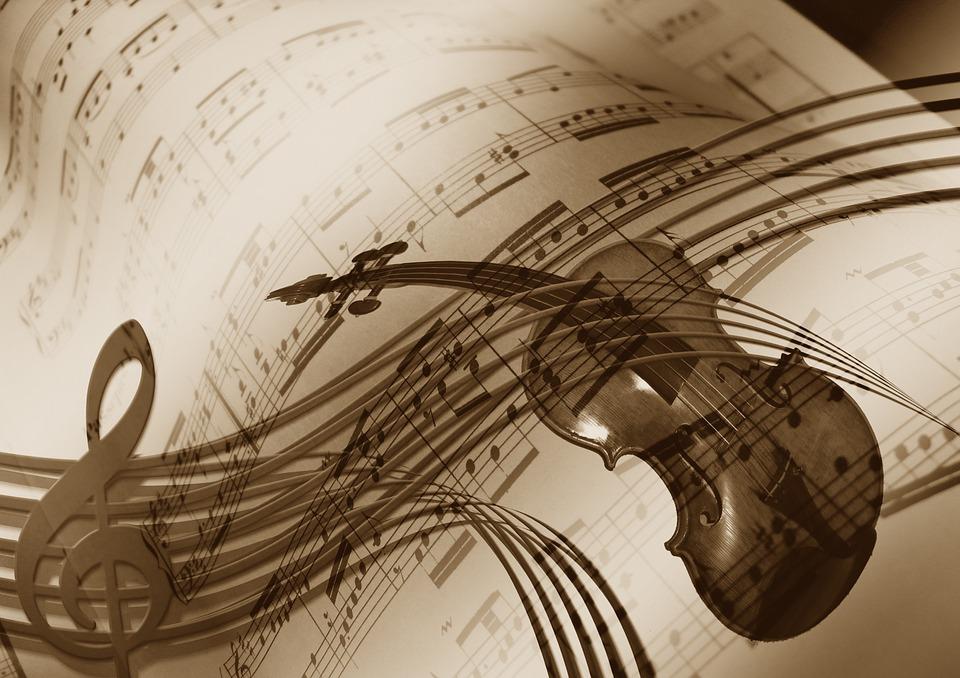 Música, Violín, Clave De Sol, Sonido, Concierto, Músico