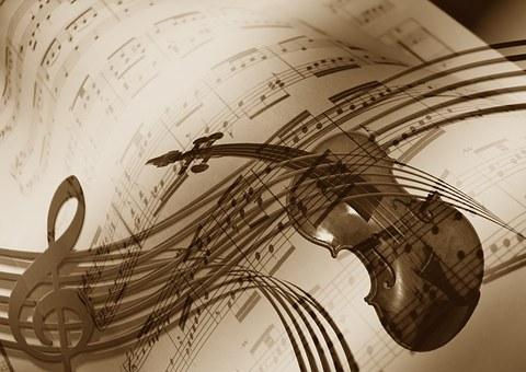 Música, Violín, Clave De Sol, Sonido