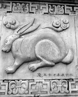 Mao, Rabbit, China, Chinese, Stonework