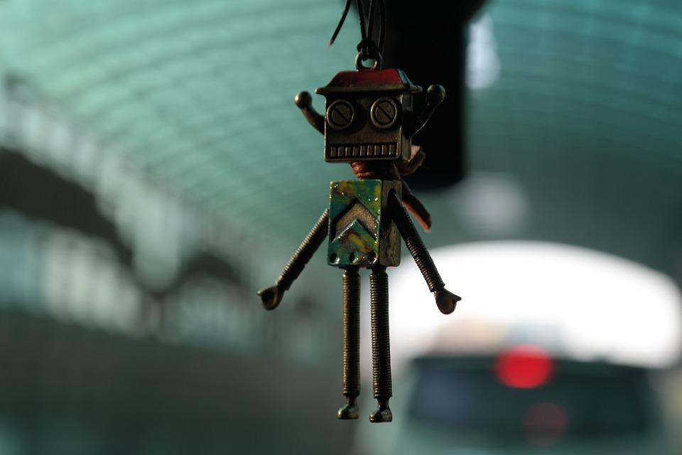 Robot, Muñeca, Android, Lindo, Ahorcado, Juguete