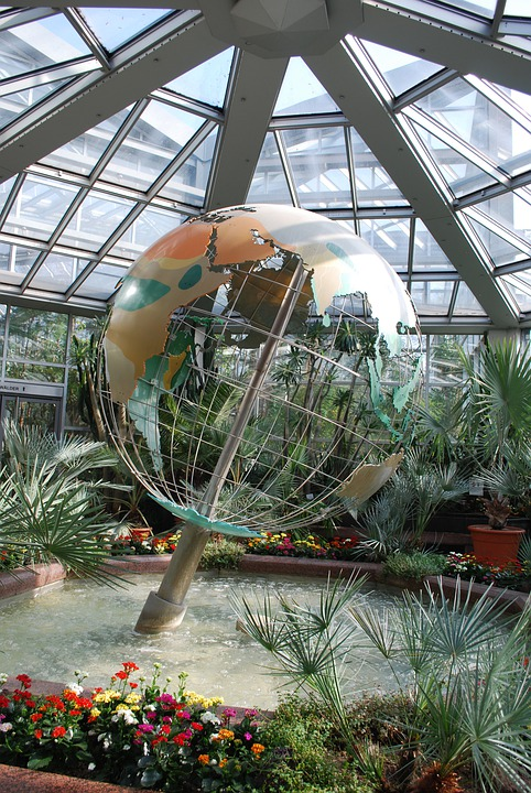 À Effet De Serre, Maison Verte, Terre, Sculpture, Monde