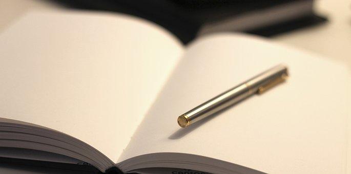 笔, 请注意, 纸, 文档, 笔记本, 空白, 写作, 空