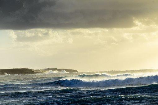 Vague, Houle, Surf, Pulvérisation