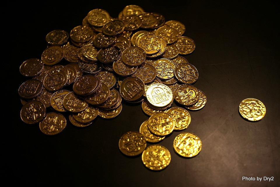 free photo  bitcoin  coins  gold  money