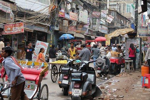Delhi, Road, India, Chaos, Delhi, Delhi