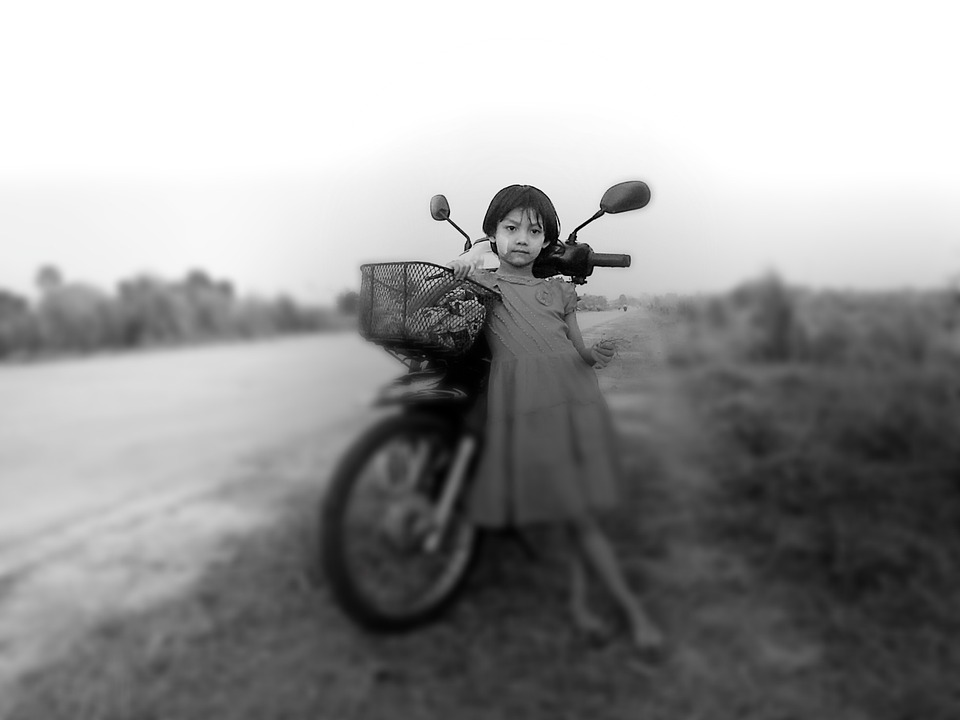 Girl motorcycle motorbike child infant