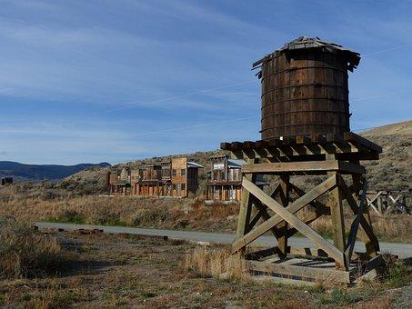 Deadman, 牧场, 古代, 建筑物, 木, 西方风格, 狂野西部, 鬼城