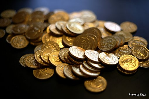Bitcoin, Coins, Gold, Money, Currency